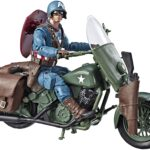 Marvel Legends Series 6″ Captain America Action Figure With Motorcycle World War II, Shield And Helmet 3