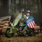 Marvel Legends Series 6″ Captain America Action Figure With Motorcycle World War II, Shield And Helmet 9