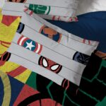 Marvel Superheroes Logo 7 Piece Full Size Bed Set Includes Comforter And Sheet Set 5