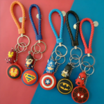 Superheroes Shields and Figures Keychains (10 different designs)
