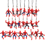 Set of 8 Keychains Mini Spider Man Figures 1.9 Inch