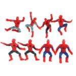Set of 8 Keychains Mini Spider Man Figures 1.9 Inch 2