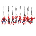 Set of 8 Keychains Mini Spider Man Figures 1.9 Inch 3
