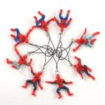 Set of 8 Keychains Mini Spider Man Figures 1.9 Inch 4