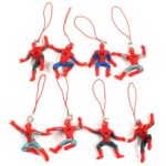 Set of 8 Keychains Mini Spider Man Figures 1.9 Inch 5